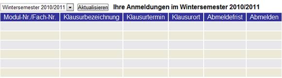 Prüfungsanmeldungen WS 2010/11