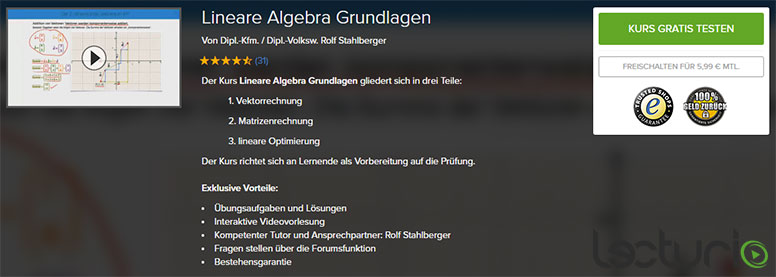 Lecturio Onlinekurs Lineare Algebra