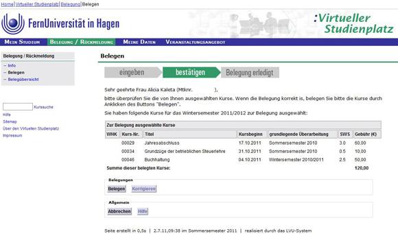 Fernuni Hagen Belegung prüfen