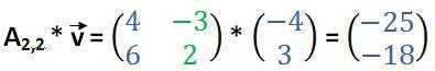 2x2-Matrix mit Vektor multipliziert