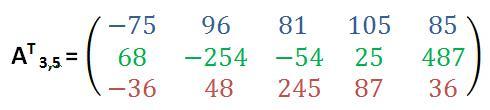 3x5-Matrix transponieren