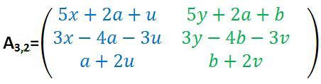 Lösungsmatrix aus Zahlen und Buchstaben