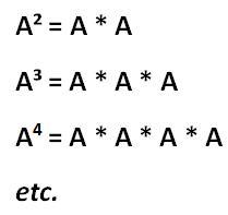 Matrizen potenzieren Formel