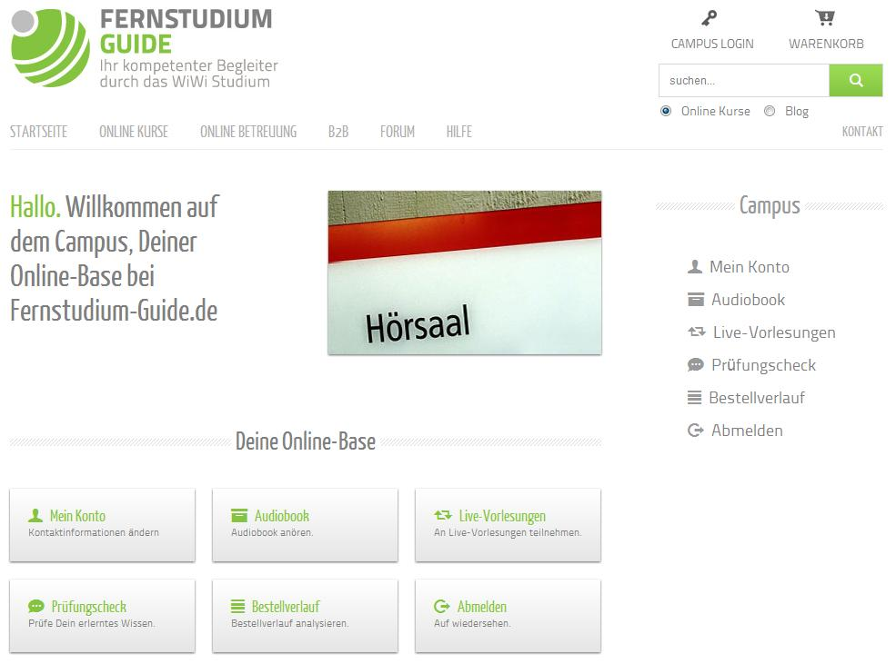 Fernstudium-Guide Online Campus