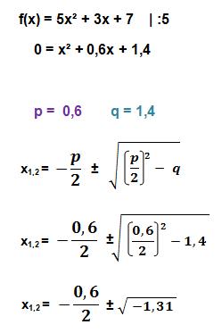 p-q-Formel Beispiel