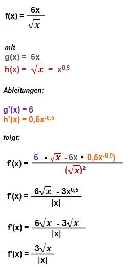 Quotientenregel Beispiel 2
