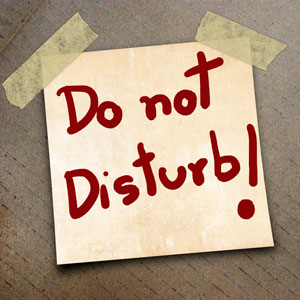 Bitte nicht stören!