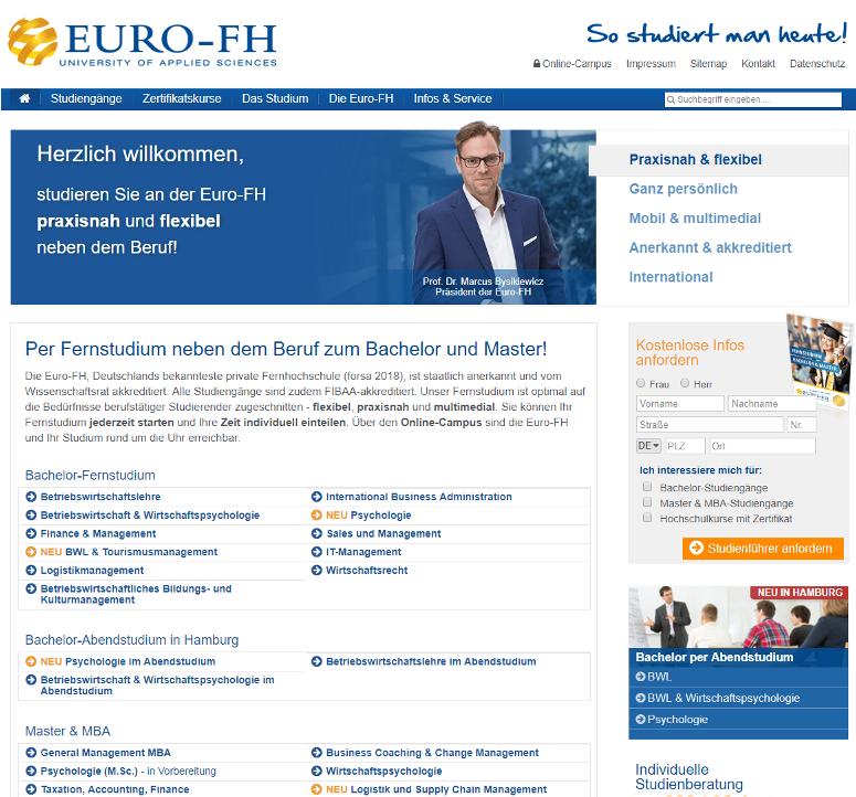 Fernstudium an der Euro-FH