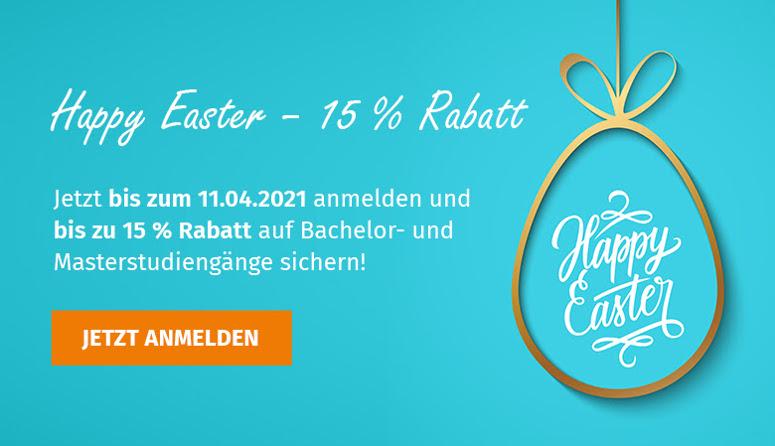 Wilhelm Büchner Hochschule Oster-Rabatt aufs Fernstudium